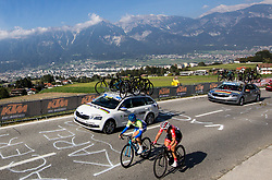 KERN Spela of Slovenia and RIJKES Sarah of Austria during the Women's Elite Road Race a 156.2km race from Kufstein to Innsbruck 582m at the 91st UCI Road World Championships 2018 / RR / RWC / on September 29, 2018 in Innsbruck, Austria. Photo by Vid Ponikvar / Sportida