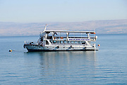 Tourist Boats in the Sea of Galilee at Tiberias, Israel