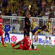 Antalyaspor's Emrah Bassan (M)  during their Turkish superleague soccer match Fenerbahce between Antalyaspor at the Sukru Saracaoglu stadium in Istanbul Turkey on Sunday 30 August 2015. Photo by Kurtulus YILMAZ/TURKPIX