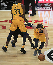 November 30, 2017 - Los Angeles, California, United States of America - Ricky Rubio #3 of the Utah Jazz dribbles the ball during their game with the Los Angeles Clippers on Thursday November 30, 2017 at the Staples Center in Los Angeles, California. Clippers lose to Jazz, 126-107. JAVIER ROJAS/PI (Credit Image: © Prensa Internacional via ZUMA Wire)