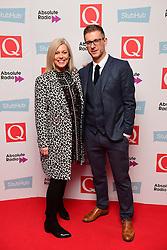Absolute Radio presenters Claire Sturgess and Andy Bush attending the Stubhub Q Awards 2016, in association with Absolute Radio, at the Roundhouse, London. PRESS ASSOCIATION Photo. Picture date: Wednesday 2 November 2016. Photo credit should read: Ian West/PA Wire.