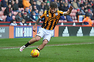 Matthew Kennedy of Port Vale crosses ball  during the Sky Bet League 1 match between Sheffield Utd and Port Vale at Bramall Lane, Sheffield, England on 20 February 2016. Photo by Ian Lyall.