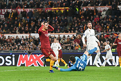 November 27, 2018 - Rome, Italy - of AS Roma  during the Champions league football match between AS Roma  and Real Madrid at Olimpico stadium in Rome, Italy, on November 27, 2018. (Credit Image: © Federica Roselli/NurPhoto via ZUMA Press)