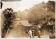 temple visit Japan ca 1930s