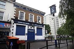 6 June 2017 - Demolition of White Hart Lane<br /> The Bill Nicholson Pub shuttered and closed<br /> Photo: Mark Leech