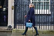 February 13, 2020, London, England, United Kingdom: British lawmaker Anne-Marie Belinda Trevelyan arrives at 10 Downing Street in London, Thursday, Feb. 13, 2020. (Credit Image: © Vedat Xhymshiti/ZUMA Wire)