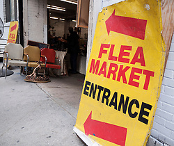 antique and flea market in Chelsea Manhattan New York City