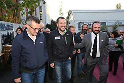 Italy, Milan  - November 18, 2018.The Italian Interior Minister Matteo Salvini  attends VIVITE event (wine producer cooperatives) at the Museo della Scienza e Tecnologia in Milan (Credit Image: © Alberico/Fotogramma/Ropi via ZUMA Press)