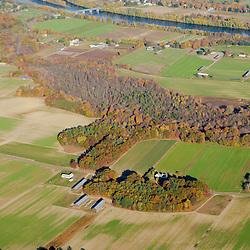 Farms near the Connecticut River in Hatfield, Massachusetts.