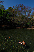 Rio Quente_GO, Brasil.<br /> <br /> Camping Esplanada, onde fica o unico rio de aguas quentes do mundo, manancial hidrotermal a ceu aberto que possui sua nascente na serra de Caldas.<br /> <br /> Esplanada camping, which is the only river of warm waters in the world in open sky that has its source in the Serra de Caldas.<br /> <br /> FOTO: MARCUS DESIMONI / NITRO