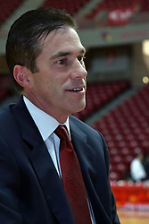 16 October 2008: Coach Tim Jankovich at Illinois State University Redbirds Men's basketball media day on Doug Collins Court inside Redbird Arena on the campus of Illinois State University in Normal Illinois