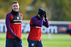 November 13, 2017 - Enfield, Greater London, United Kingdom - England's Gary Cahill during a England training session ahead of the International Friendly match against Brazil at Tottenham Hotspur Training centre on 13 Nov , 2017 in Enfield, England. (Credit Image: © Kieran Galvin/NurPhoto via ZUMA Press)