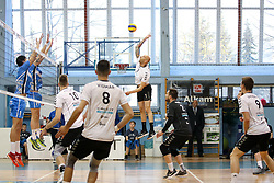 Maxson Guilherme Pereira of Calcit Volley during volleyball match between Calcit Volley and Salonit Anhovo in Semifinal of Slovenian League 2017/18, on April 14, 2018 in Sportna Dvorana, Kamnik, Slovenia. Slovenia. Photo by Matic Klansek Velej / Sportida