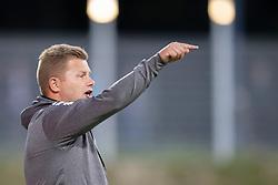 Cheftræner Lasse Stensgaard (Vendsyssel FF) under kampen i 1. Division mellem FC Helsingør og Vendsyssel FF den 18. september 2020 på Helsingør Stadion (Foto: Claus Birch).