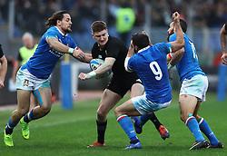 November 24, 2018 - Rome, Italy - Italy v New Zealand All Blacks - Rugby Cattolica Test Match.New Zealands Jordie Barrett and Italys Tito Tebaldi at Olimpico Stadium in Rome, Italy on November 24, 2018. (Credit Image: © Matteo Ciambelli/NurPhoto via ZUMA Press)