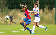 Nicha Dyett through on goal; during the Pre-Season Friendly match between Crystal Palace LFC and Queens Park Rangers Ladies at the The Stadium, Bromley, United Kingdom on 19 July 2015. Photo by Michael Hulf.
