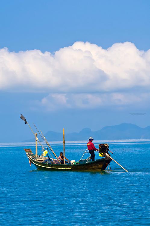 Fishing boat, Koh Samui (island), Gulf of Thailand, Thailand