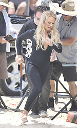 AU_1799240 - *EXCLUSIVE* ** RIGHTS: WORLDWIDE EXCEPT IN AUSTRALIA, FIJI, NEW ZEALAND, FRENCH POLYNESIA ** Gold Coast, AUSTRALIA  - Pamela Anderson filming Ultra Tunes TV Ad on the Gold Coast<br /> <br /> Pictured: Pamela Anderson<br /> <br /> BACKGRID Australia 26 NOVEMBER 2019 <br /> <br /> Phone: + 61 419 847 429<br /> Email:  sarah@backgrid.com.au