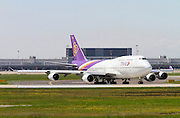 HS-TGO Thai Airways Boeing 747 Photographed at Malpensa airport, Milan, Italy