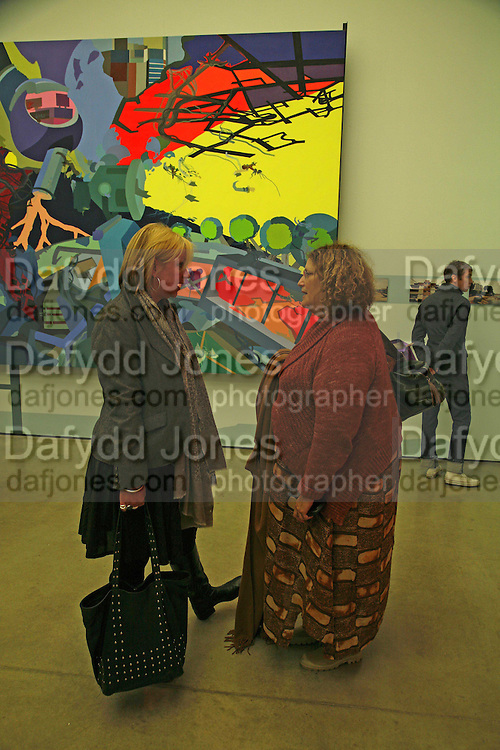 LOUISA BUCK AND KAREN WRIGHT, Franz Ackermann , Home, home again private view. White Cube, Hoxton sq. London. 20 April 2006. ONE TIME USE ONLY - DO NOT ARCHIVE  © Copyright Photograph by Dafydd Jones 66 Stockwell Park Rd. London SW9 0DA Tel 020 7733 0108 www.dafjones.com