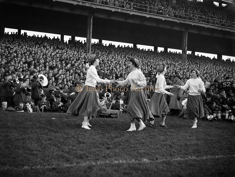 American Football at Croke Park - Burtonwood Bullets vs. Wethersfield Raiders.Cheerleaders.21/11/1953