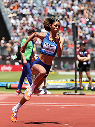 Vashti Cunningham, USA, sets new personal best clearing 2.00 meters for second place at<br /> 2019 The Prefontaine Classic Track & Field<br /> IAAF Diamond League