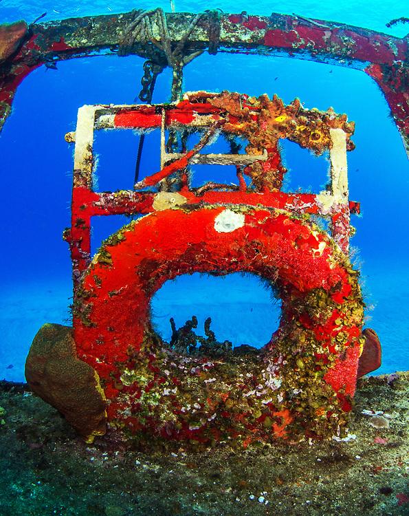 Shipwreck C-53 Felipe Xicotencatl in Chankanaab Park, Cozumel, Mexico