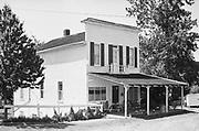 680604-B01 old house located on Main St. NE across the railroad tracks from Aurora. Aurora, Oregon. June 4, 1968