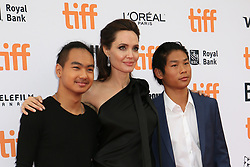 September 12, 2017 - Toronto, Canada - ANGELINA JOLIE WITH HER SONS MADDOX AND PAX - RED CARPET OF THE FILM 'FIRST THEY KILLED MY FATHER' - 42ND TORONTO INTERNATIONAL FILM FESTIVAL 2017 (Credit Image: © Visual via ZUMA Press)