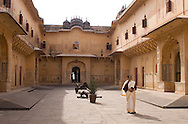 Woman in a palace, Rajasthan, India
