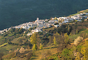 SPAIN, ANDALUSIA the village of Capileira in the Alpujarras area of the Sierra Nevada Mountains, south of Granada
