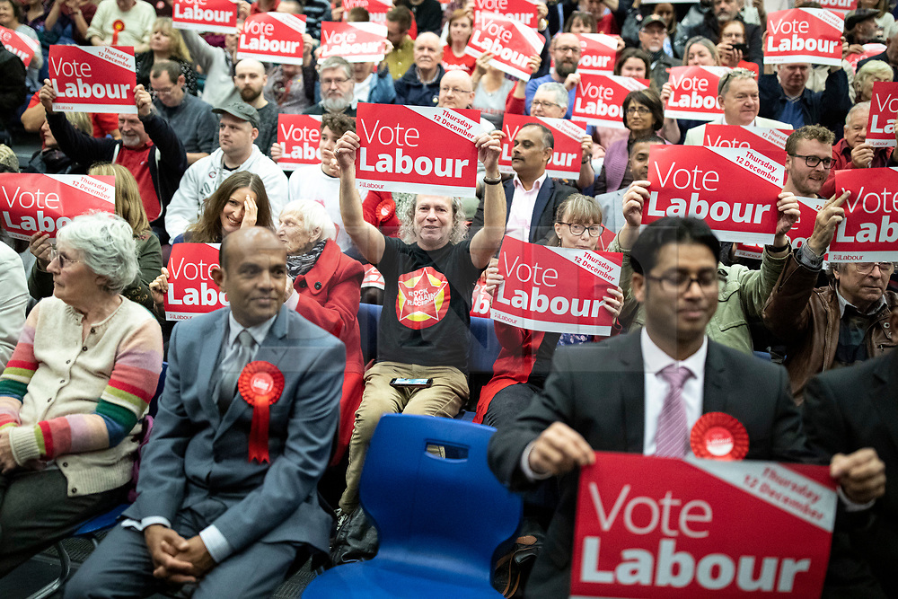 © Licensed to London News Pictures. 02/11/2019. Swindon, UK. Labour Party supporters at Commonweal Sixth Form College in Swindon during a campaign rally ahead of the general election on 12 December. Photo credit: Rob Pinney/LNP