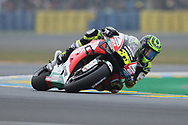 #35 Cal Crutchlow, British: LCR Honda Castrol during racing on the Bugatti Circuit at Le Mans, Le Mans, France on 19 May 2019.