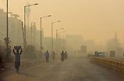 Hazy morning in Nagpur, Maharashtra, India.