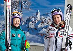 02.03.2011, Pista di Prampero, Tarvis, ITA, FIS Weltcup Ski Alpin, 1. Abfahrtstraining der Damen, im Bild, Michaela Kirchgasser (AUT) und Ingrid Jacquemod (FRA) // Michaela Kirchgasser (AUT) and Ingrid Jacquemod (FRA) during Ladie's Downhill Training, FIS World Cup Alpin Ski in Tarvisio Italy on 2/3/2011. EXPA Pictures © 2010, PhotoCredit: EXPA/ J. Groder