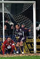 Fotball<br /> OEFB Stiegl Cup<br /> TSV Hartberg vs Austria Wien<br /> 24. mars 2004<br /> Foto: Digitalsport<br /> Norway Only<br /> Gerald Archan (Hartberg), Sigurd Rushfeldt (A.Wien)