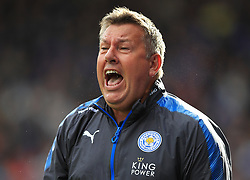 Leicester City manager Craig Shakespeare during the Premier League match at the John Smith's Stadium, Huddersfield.