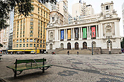 The City Hall in Pedro Ernesto Place on Cinelandia Square in Rio de Janeiro, Brazil.