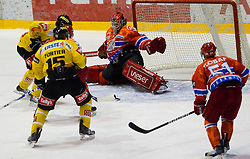 Goalkeeper Jaakko Suomalainen of Acroni Jesenice during ice-hockey match between HK Acroni Jesenice and EV Vienna Capitals in 13th Round of EBEL league, on October 22, 2010 at Podmezakla, Jesenice, Slovenia. (Photo By Vid Ponikvar / Sportida.com)