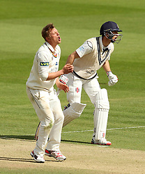 Durham's Scott Borthwick shows his anguish after almost picking up a wicket - Photo mandatory by-line: Robbie Stephenson/JMP - Mobile: 07966 386802 - 03/05/2015 - SPORT - Football - London - Lords  - Middlesex CCC v Durham CCC - County Championship Division One