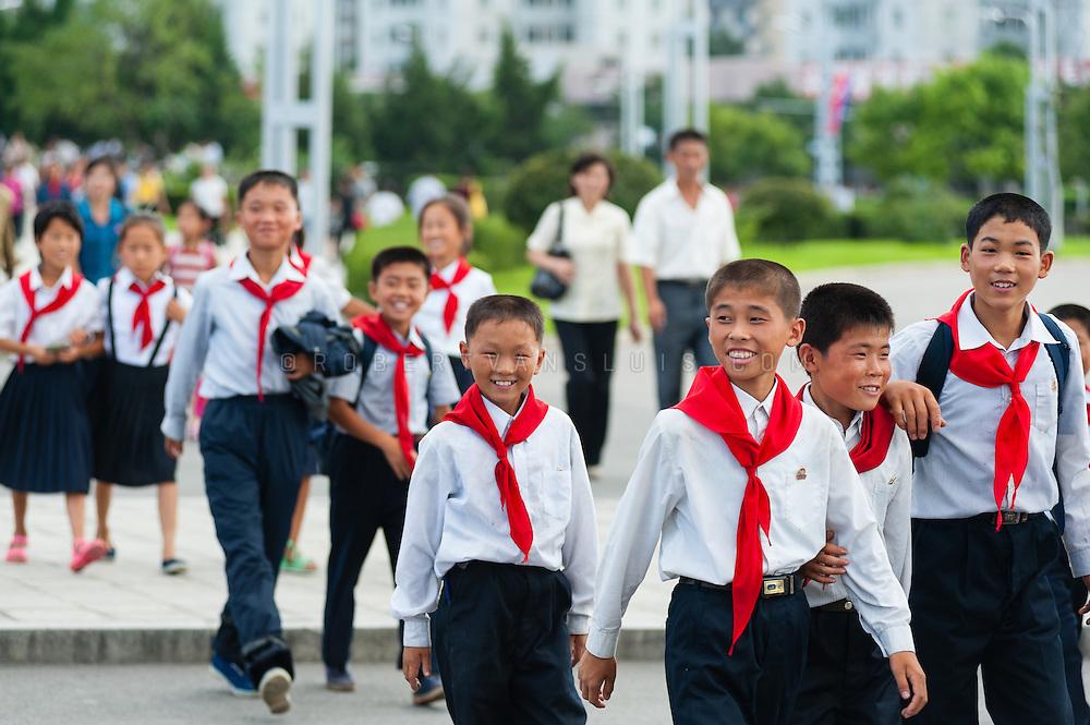 Child members of the Party, Pyongyang, DPRK (North Korea)