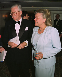 MR & MRS WIN BISCHOFF he is chief executive of bankers Schroders,  at a dinner in London on April 14th 1997.LXO 20