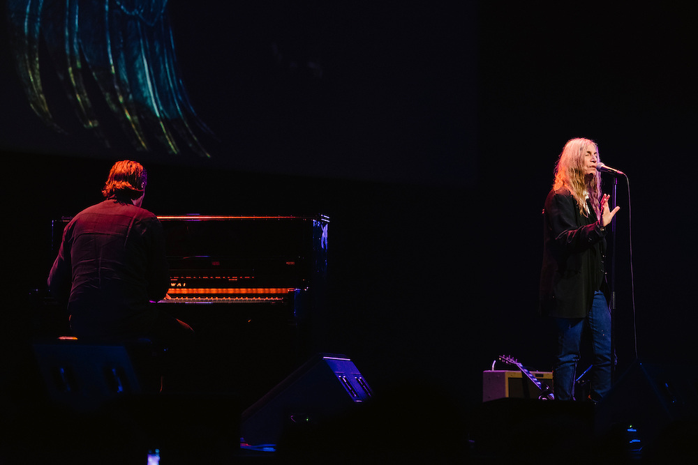 Photos of musician Patti Smith performing live for 'Stopp - Let's Protect the Park' nature benefit concert at Harpa concert hall in Reykjavík, Iceland. March 18, 2014. Copyright © 2014 Matthew Eisman. All Rights Reserved