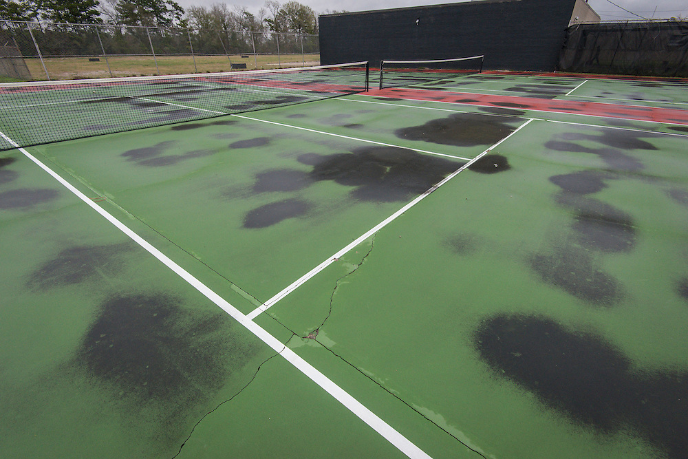 Tennis courts  at North Forest High School, February 23, 2015.