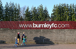 Burnley fans arriving at the ground