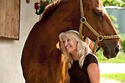 Viola Majewska at Galopek hippotherapy stables outside Warsaw, Poland