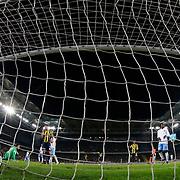 Trabzonspor's Mustafa Yumlu (L) during their Turkish super league soccer derby Fenerbahce between Trabzonspor at the Sukru Saracaoglu stadium in Istanbul Turkey on Monday 30 November 2015. Photo by Kurtulus YILMAZ/TURKPIX