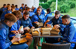 Dinner after the football match between NK Domzale and NK Aluminij in 36th Round of Prva liga Telekom Slovenije 2020/21, on May 22, 2021 in Sportni park Domzale, Slovenia. Photo by Vid Ponikvar / Sportida