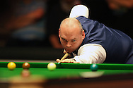 Stuart Bingham (Eng) in action. Stuart Bingham (Eng) v Joe Perry (Eng), 1st round match at the Dafabet Masters Snooker 2017, day 2 at Alexandra Palace in London on Monday 16th January 2017.<br /> pic by John Patrick Fletcher, Andrew Orchard sports photography.