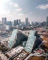 Aerial view of High tech zone, Chengdu, China